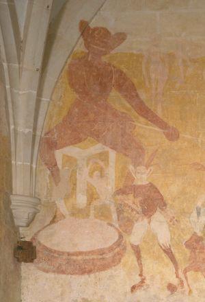 Champniers, peinture murale du 15e siècle, un diable