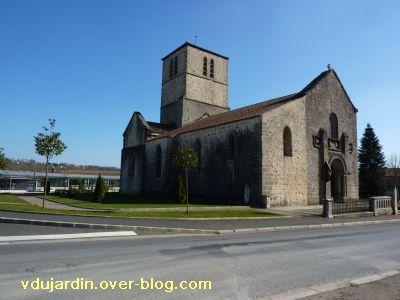Confolens, l'église Saint-Barthélemy, 2, le côté nord