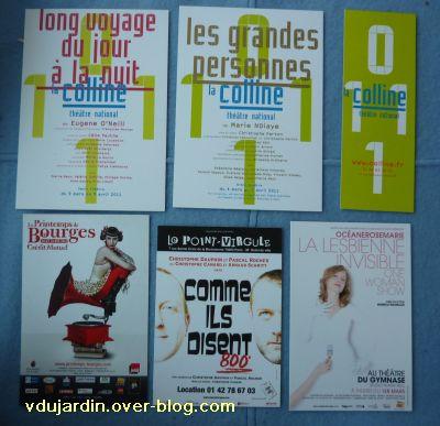 Capucine O, mars 2011, nouvelle série, 2, cartes à publicité