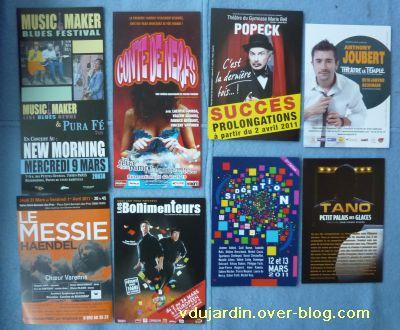 Capucine O, mars 2011, nouvelle série, 1, cartes à publicité