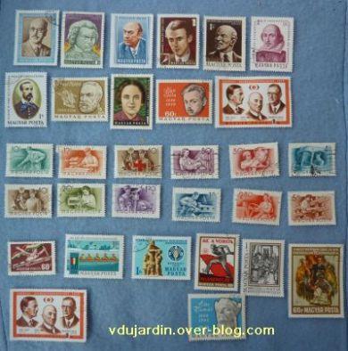 Des timbres hongrois, 2, des hommes célèbres et des métiers