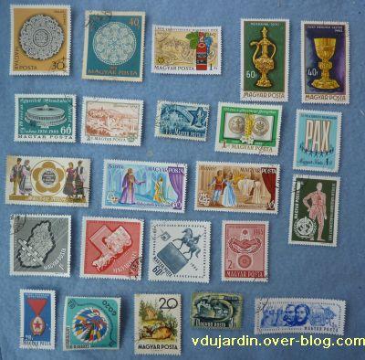 Des timbres hongrois, 1, dentelle, orfèvrerie et autres thèmes