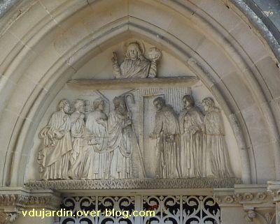 Ligugé, 7, le linteau de la chapelle du catéchumène