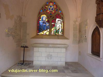 Ligugé, 6, l'intérieur de la chapelle du catéchumène