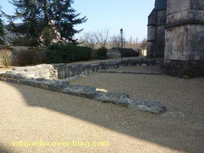 Ligugé, 3, les ruines de l'ancienne église