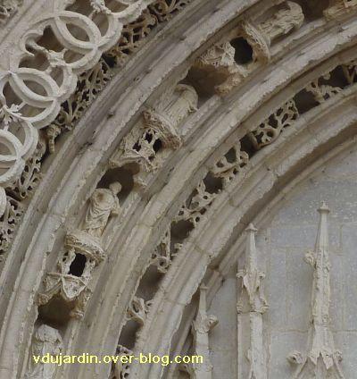 Poitiers, portail de Sainte-Radegonde, rouleau central, 3