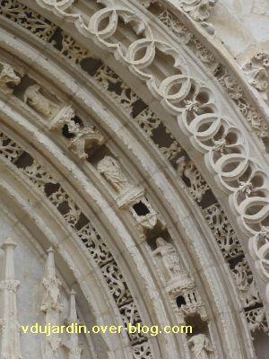Poitiers, portail de Sainte-Radegonde, rouleau central, 6