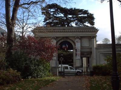 L'entrée du jardin du musée des beaux-arts de Tours