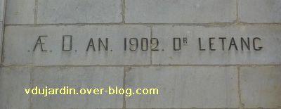 Poitiers, 36 rue Grimaux, 2, inscription