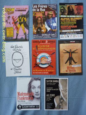Envoi reçu de Capucine O, cartes à publicité, avril 2011, 2
