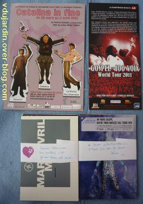 Envoi reçu de Capucine O, cartes à publicité, nouvel envoi de mars 2011, 1