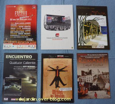Envoi reçu de Capucine O, cartes à publicité, nouvel envoi de mars 2011, 2
