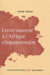 Couverture de la lettre ouverte à l'Afrique cinquantenaire, de Kodjo