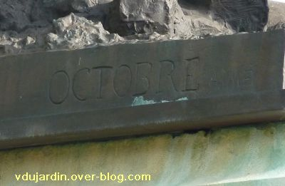 Poitiers, le monument aux morts de 1914-1918, 1, la signature