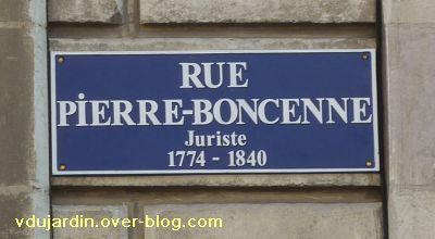 22 avril 2011, Poitiers, 6, plaque de la rue Boncenne