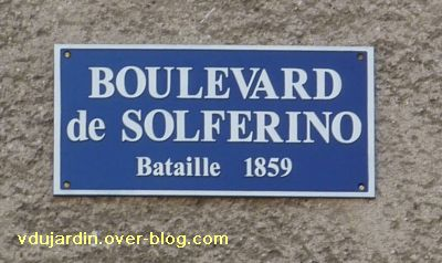 22 avril 2011, Poitiers, 7, plaque du boulevard Solferino