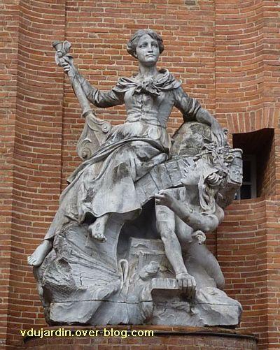 Toulouse, fontaine Labatut rue Boulbonne, 3, vue rapprochée de face