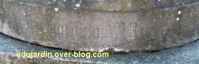Tours, le monument à Rude par Becquet, 2, la dédicace