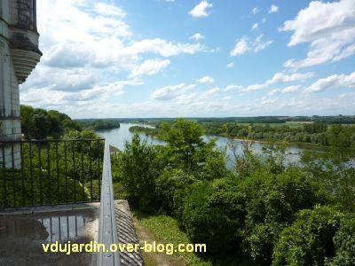 Chaumont-sur-Loire, 6, la Loire depuis la terrasse du château