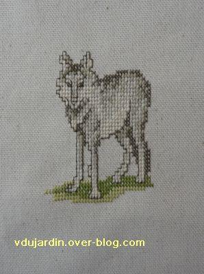 Le premier loup brodé pour le concours loups de Mafra de 2011