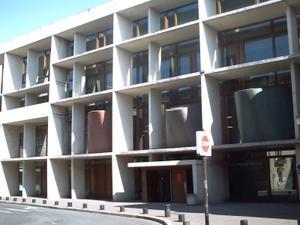 Façade postérieure del médiatèque de Poitiers