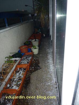 Poitiers, orage du 2 mai 2011, 20h30, 2, balcon