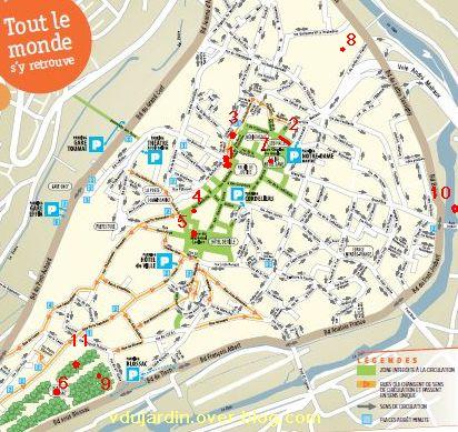 Poitiers, fontaines, 13 mai 2011, plan du défi