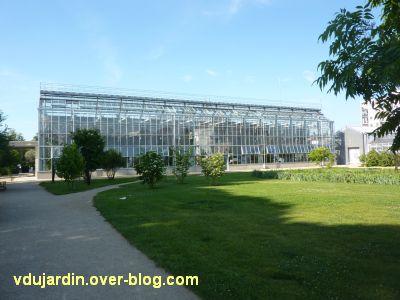 Tours, le jardin des plantes, 08, la façade nord de la grande serre