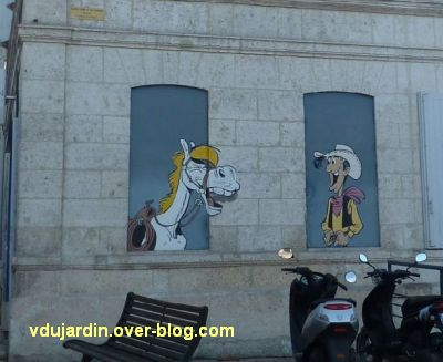 Angoulême, le mur peint de Morris, 2, Lucky Luke et Jolly Jumper