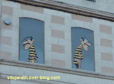Angoulême, le mur peint de Morris, 4, Jack et Averell Dalton