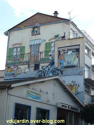 Angoulême, le mur peint de Margerin, un samedi à Malakoff, 1, vue générale
