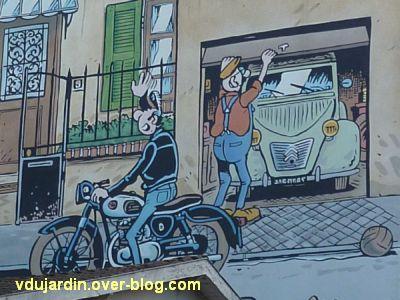 Angoulême, le mur peint de Margerin, un samedi à Malakoff, 2, Lucien et le voisin à la Deuch'