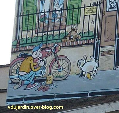 Angoulême, le mur peint de Margerin, un samedi à Malakoff, 4, un pote et des chiens