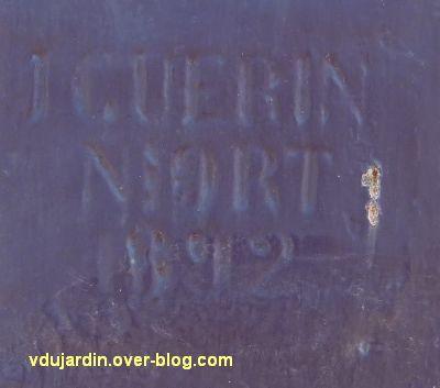 Lien vers le blog de Véronique D, la halle de Confolens, 3, sgnature de J. Guérin fondeur, 1892