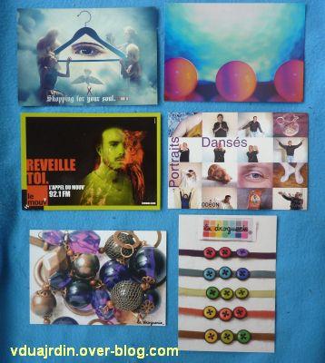 Echange d'été de Miss Fil, 9, des cartes à publicité colorées