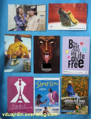 Echange d'été de Miss Fil,8, des cartes à publicité variées