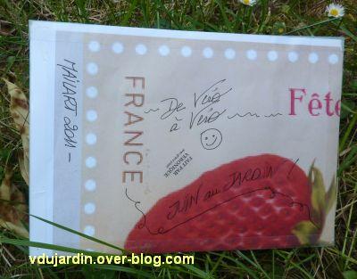 Art postal de Véro bis, juin 2011, 1, une face