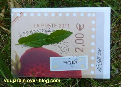 Art postal de Véro bis, juin 2011, 2, l'autre face