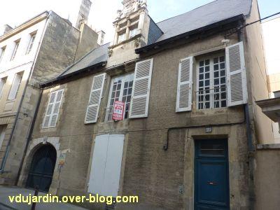Poitiers, hôtel particulier rue de l'Ancienne comédie, 1, la façade