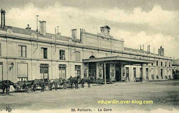 Poitiers, la gare vers 1900, vue 1