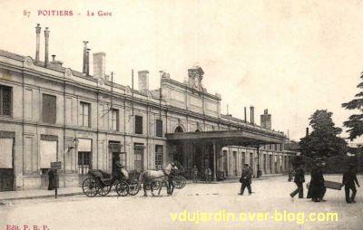 Poitiers, la gare vers 1900, vue 2