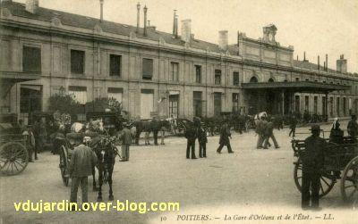 Poitiers, la gare vers 1900, vue 3
