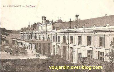 Poitiers, la gare vers 1900, vue 4