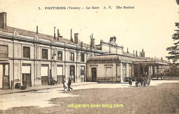 Poitiers, la gare vers 1920, vue 1