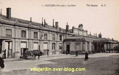 Poitiers, la gare vers 1920, vue 2