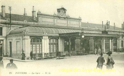 Poitiers, la gare vers 1920, vue 6