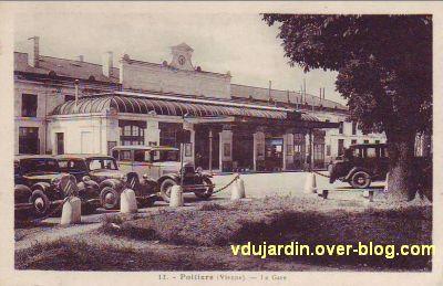 Poitiers, la gare vers 1930, vue 1