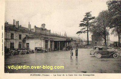 Poitiers, la gare vers 1930, vue 4