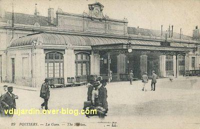 Poitiers, la gare vers 1930, vue 2