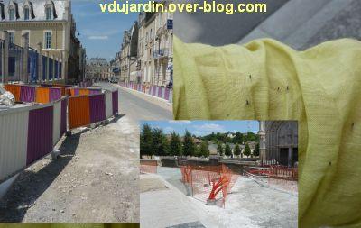 Poitiers, des girouettes, 01, des obstacles, travaux et moucherons